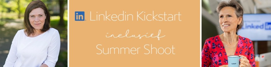LinkedIn Training Kickstart & Summer shoot Renate Boere Flashback fotografie en Trudy Pannekeet LinkedIn Trainer